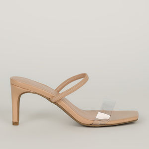 Blogger Babe - Nude Transparent Strap Heels